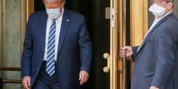 ترامب بعد خروجه من المستشفى