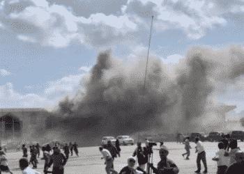انفجار مطار عدن