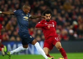 محمد صلاح من مباراة سابقة بين مانشستر يونايتد وليفربول